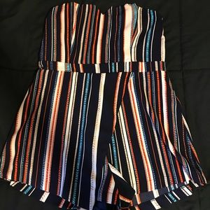 Strapless romper- worn once, size large.
